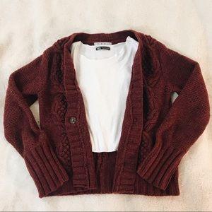 Cabi Lambs Wool Sweater in Burgundy